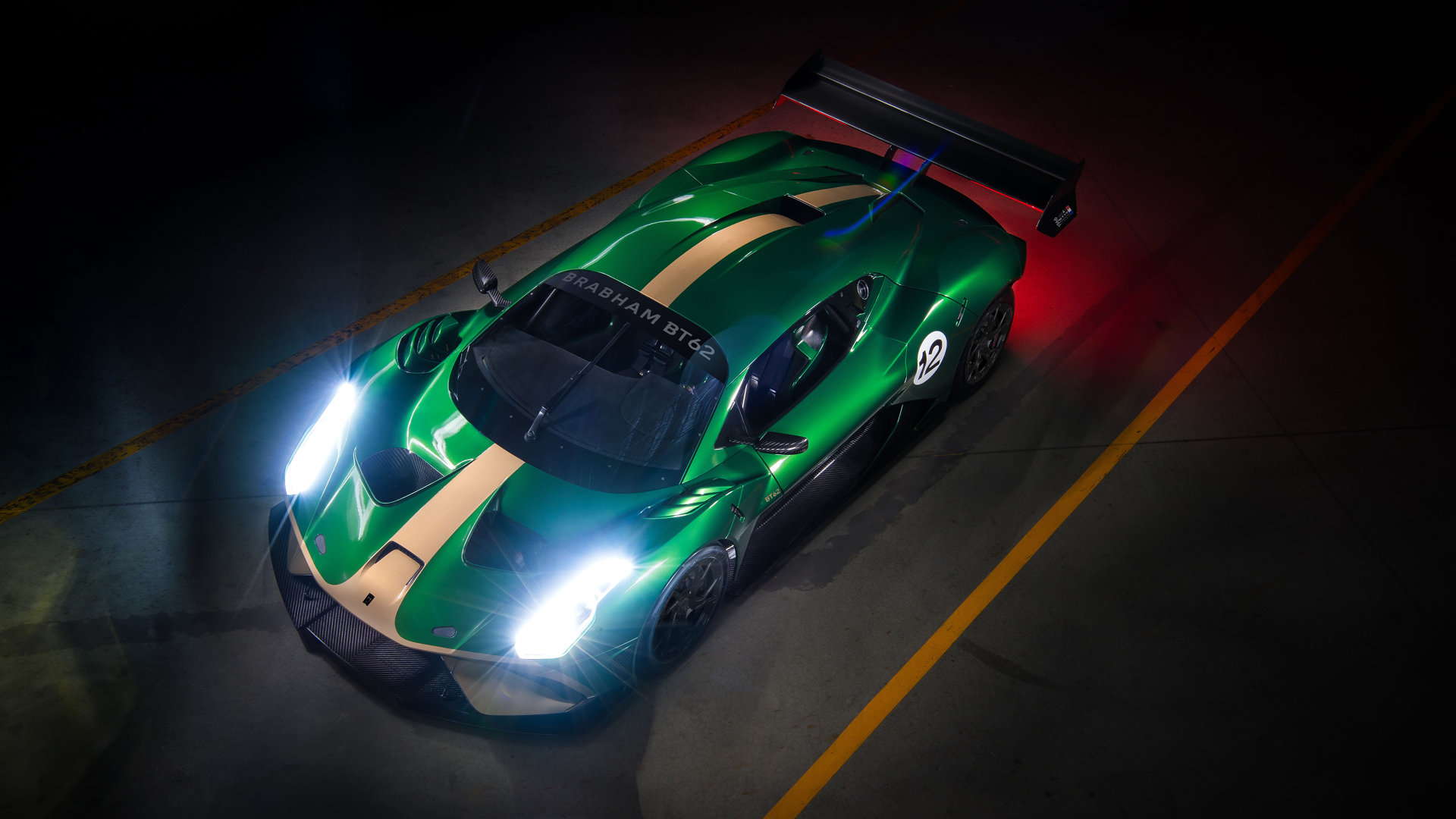 Brabham BT62 Front Elevated View