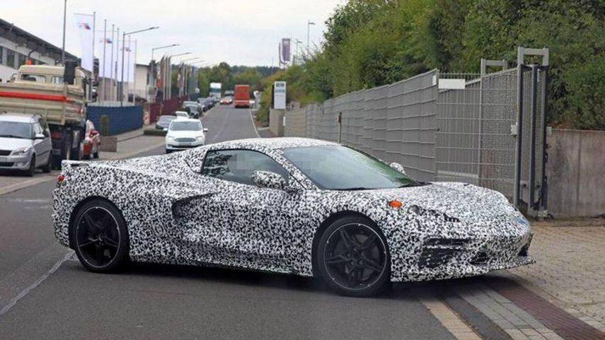 El Corvette de motor central aparece en Nürburgring