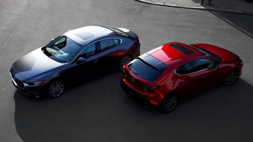La frenada de emergencia del Mazda3 se podría activar cuando no debe