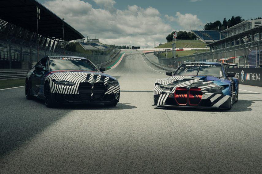 Los BMW M4 Coupé y M4 GT3 aparecen por primera vez en MotoGP