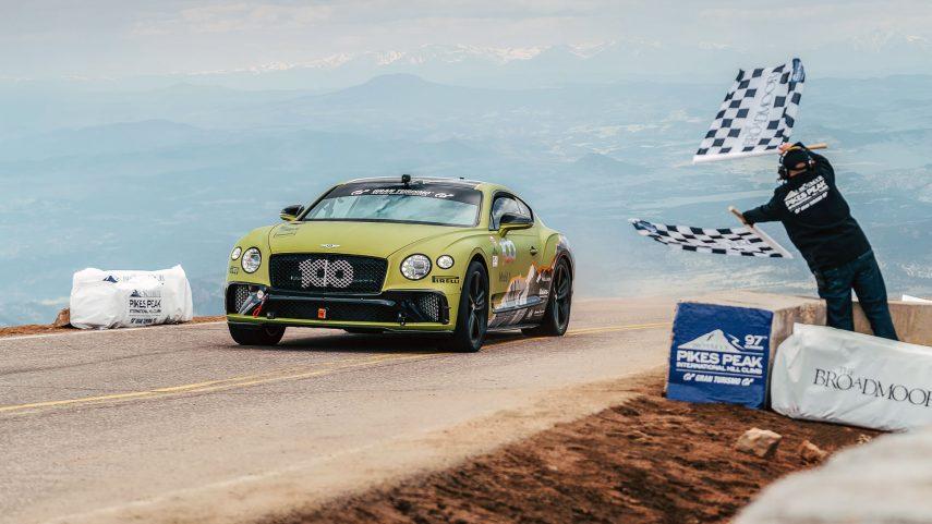 El Bentley Continental GT es el coche de producción más rápido de Pikes Peak