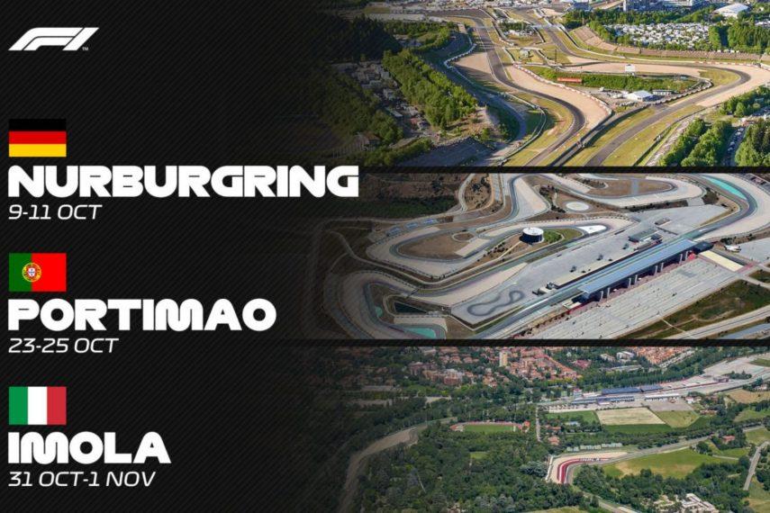 La Fórmula 1 confirma las carreras en Nürburgring, Portimao e Imola