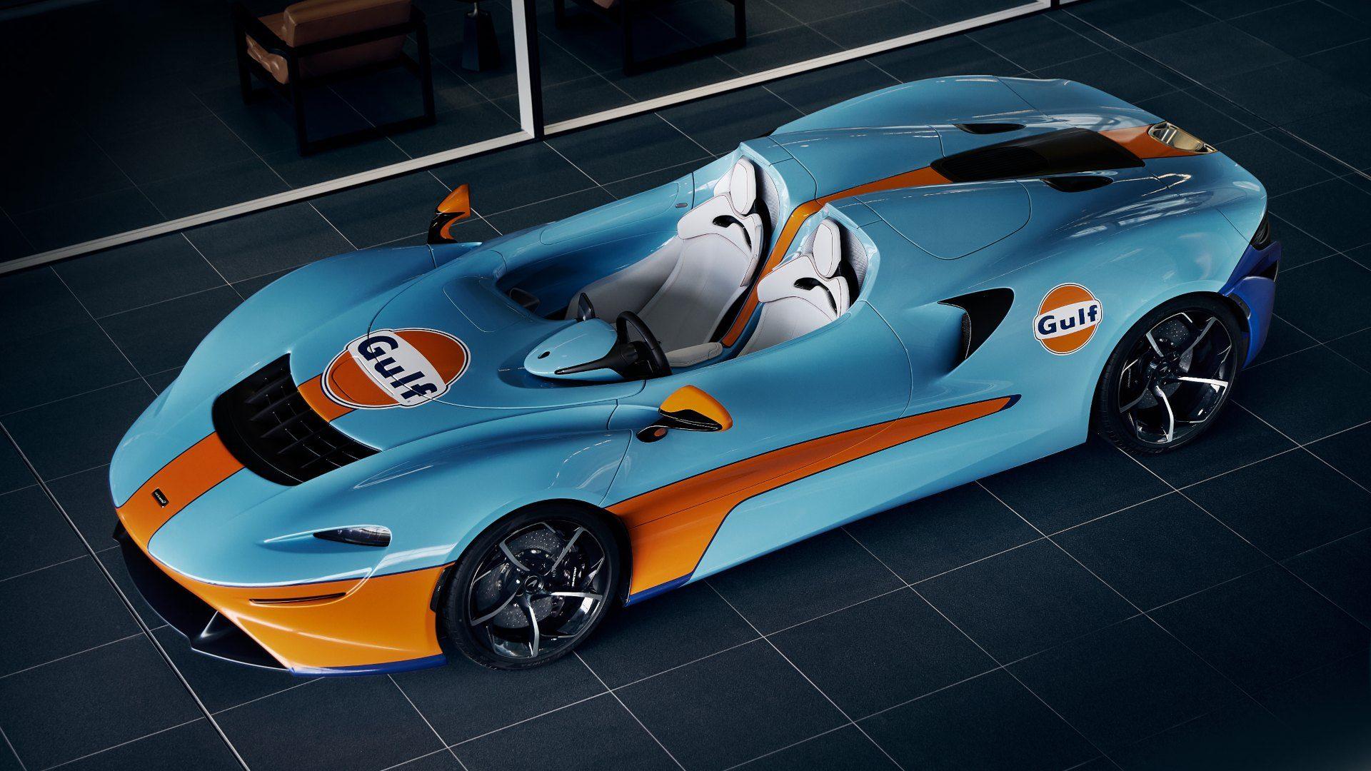 El McLaren Elva Gulf theme by MSO celebra la nueva unión de las dos compañías