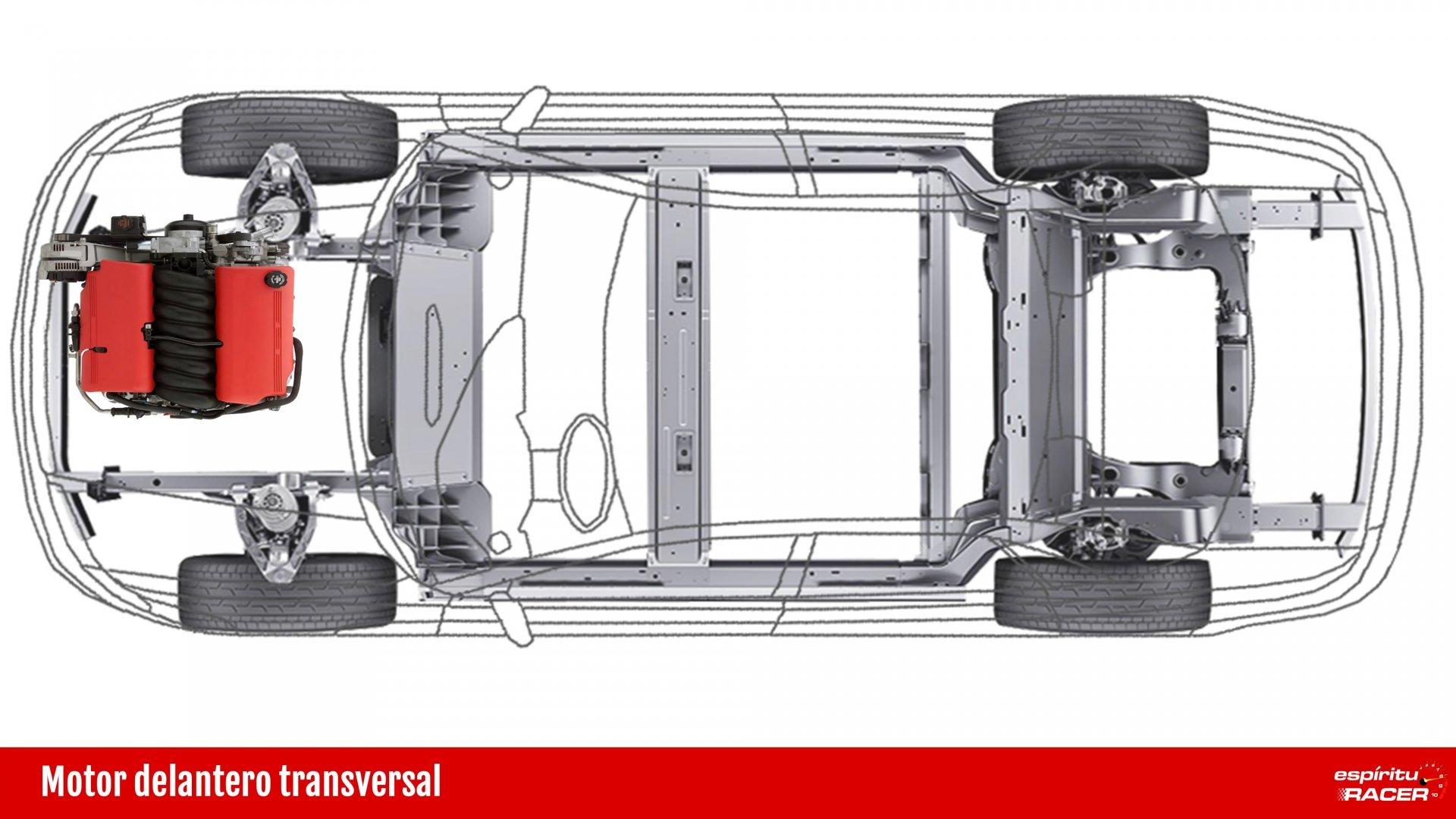 Motor delantero transversal
