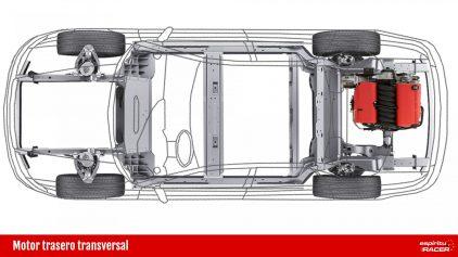 Motor trasero transversal