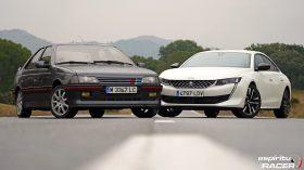 Peugeot 508 GT Hybrid vs Peugeot 405 Mi16 10