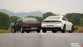 Peugeot 508 GT Hybrid vs Peugeot 405 Mi16 12