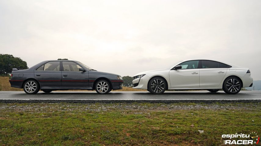 Peugeot 508 GT Hybrid vs Peugeot 405 Mi16 13