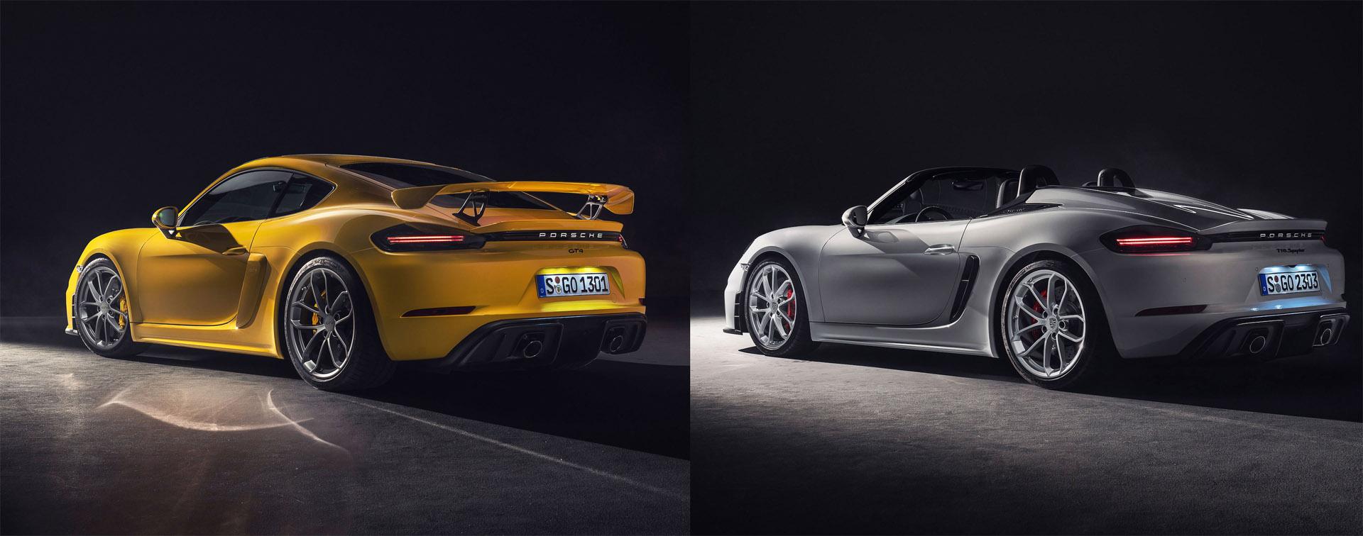 Nuevos Porsche 718 Spyder y 718 Cayman GT4, posiblemente los mejores Porsche