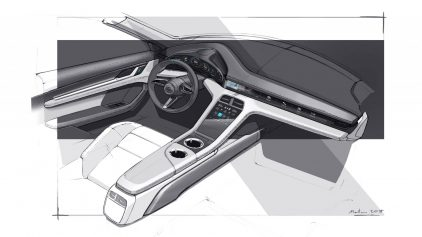 Porsche Taycan Interior Teaser 5