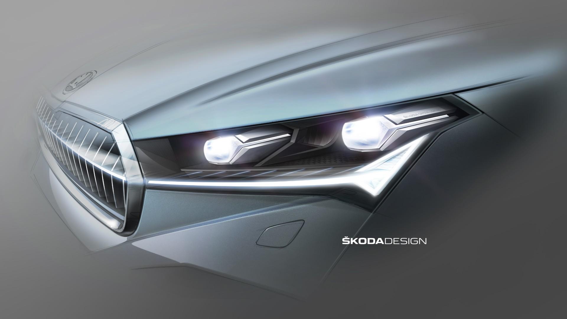 Škoda avanza el diseño de los faros del Enyaq iV