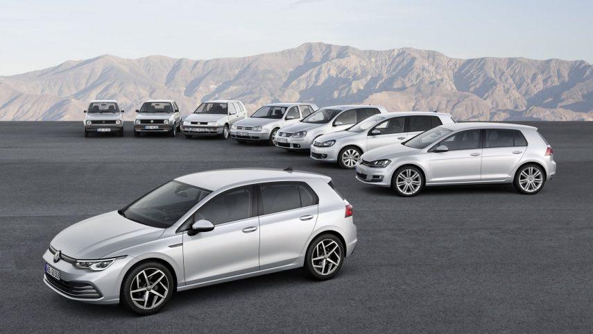 Volkswagen Golf generaciones 1 a 8 escalera