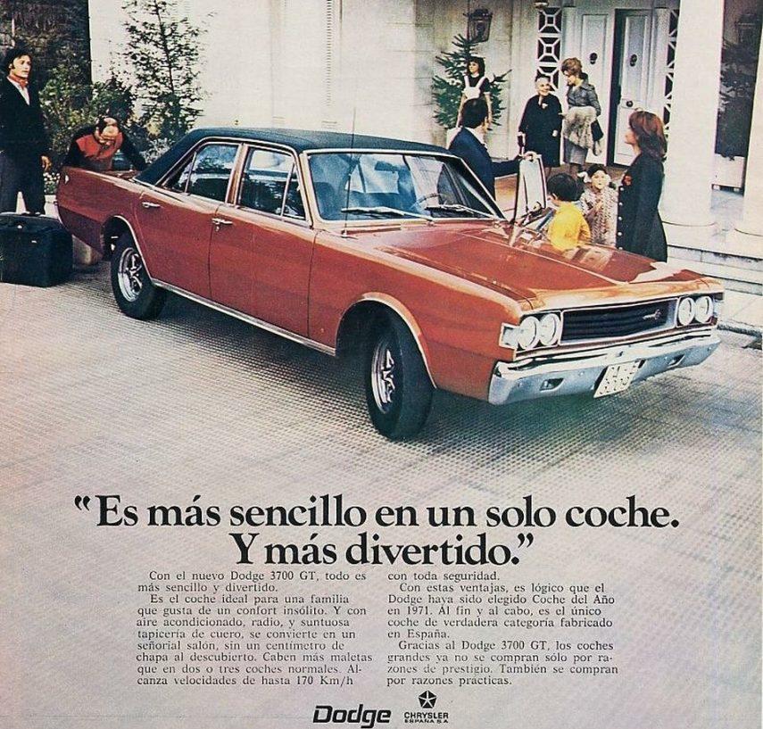 Coche del día: Dodge 3700 GT