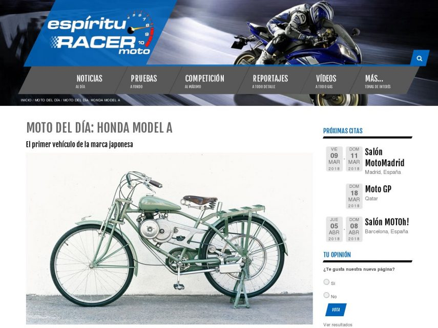 Nace espíritu RACER moto