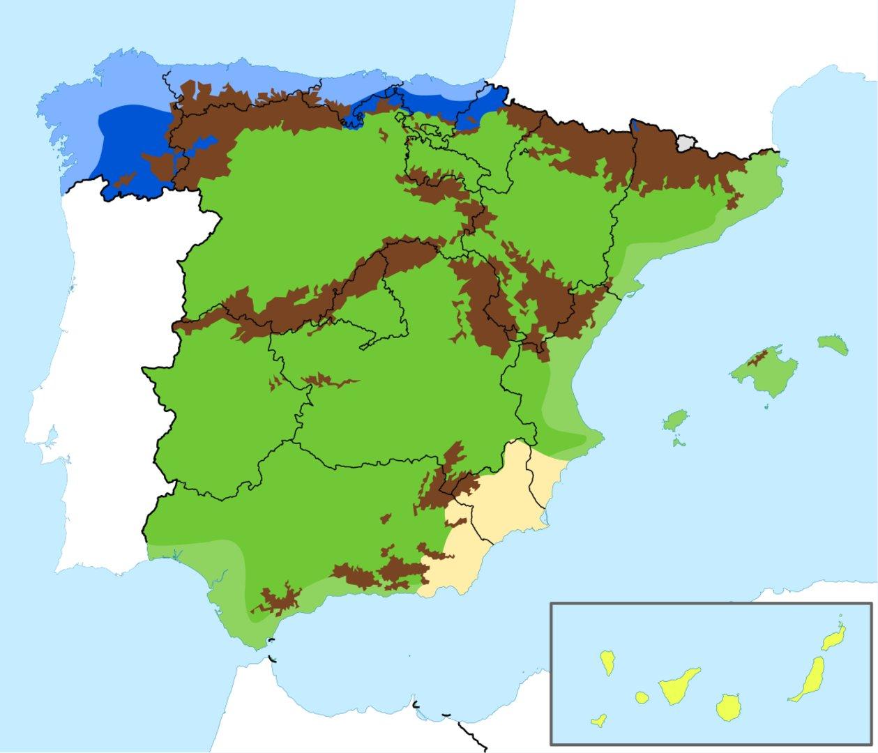 Mapa Climatico Espana