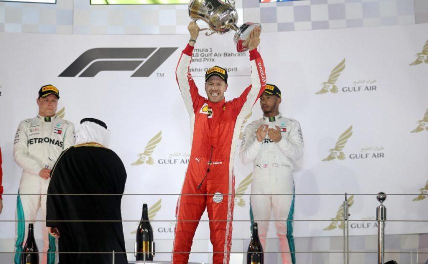 Vettel y la estrategia de Ferrari vencen en Bahrein