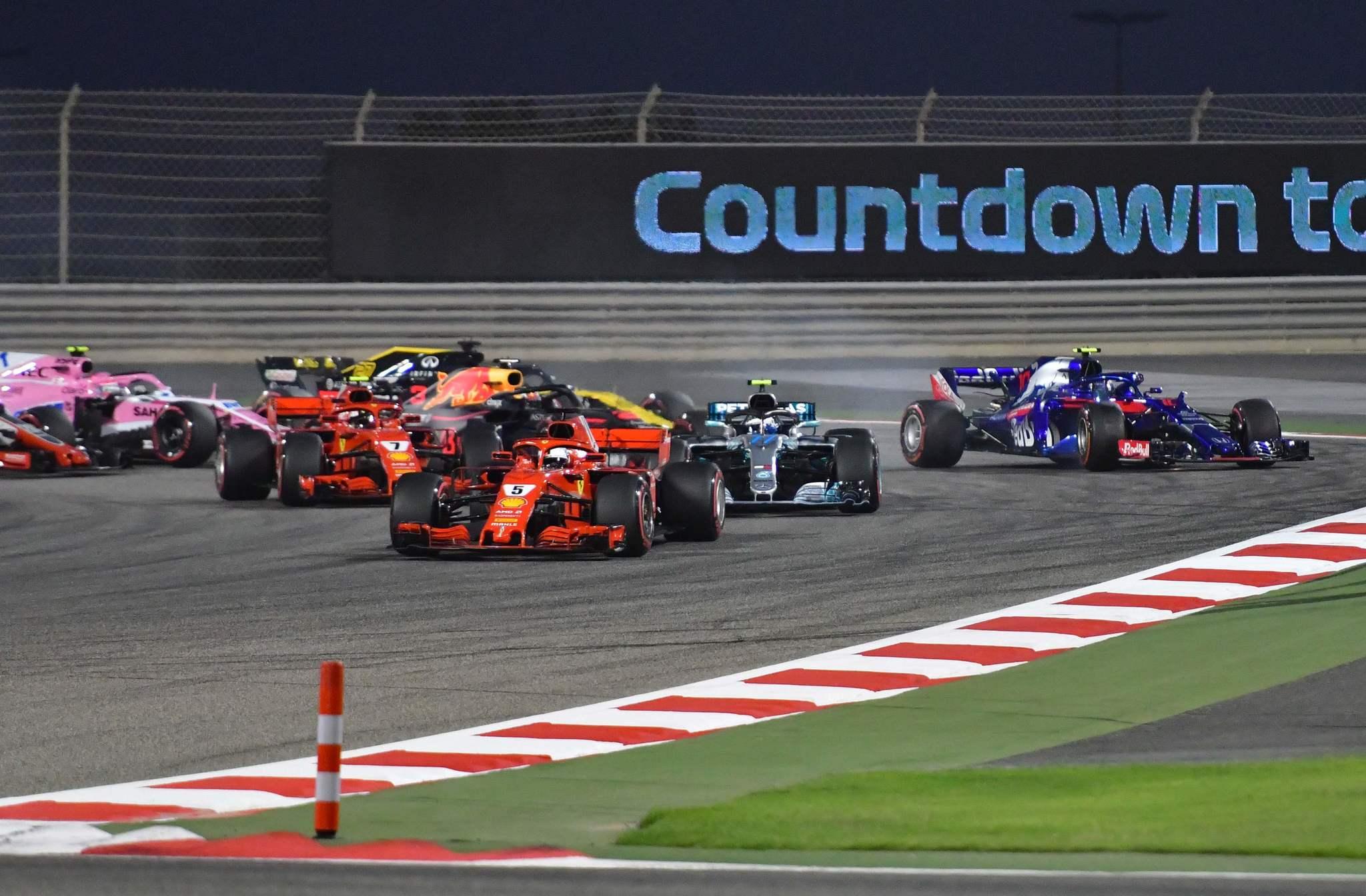 Salida Bahrein F1 2018