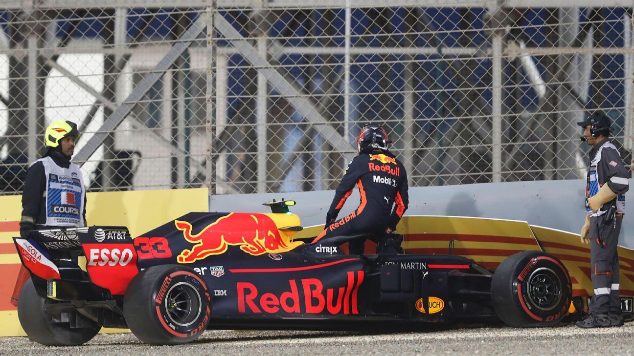 Verstappen Crash F1 Bahrein 2018