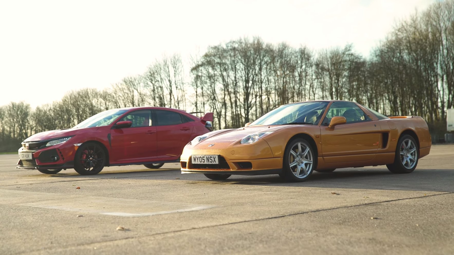 Duelo de titanes: Honda NSX vs Honda Civic Type R