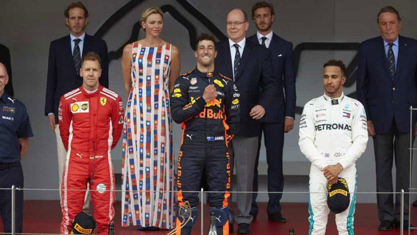 GP de Mónaco: Ricciardo vence en una carrera soporífera