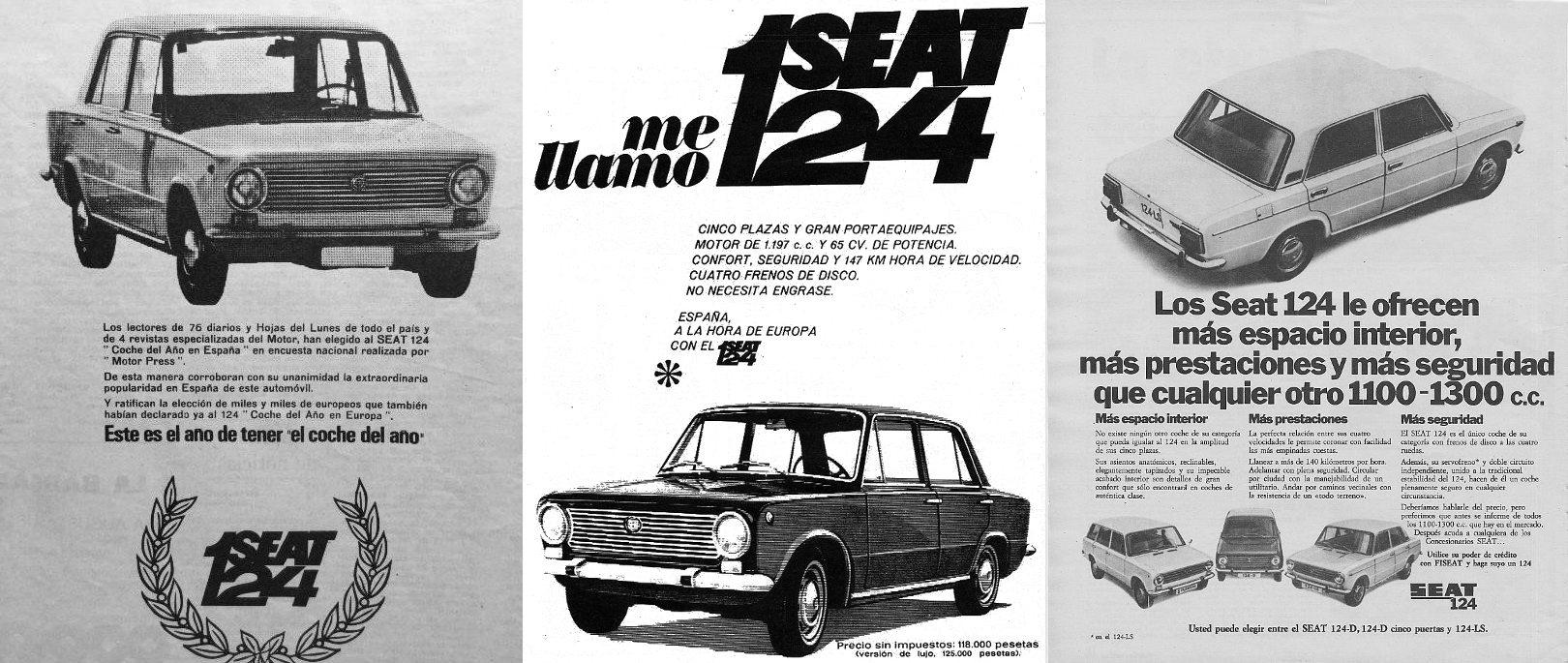 Publicidad del SEAT 124 FA