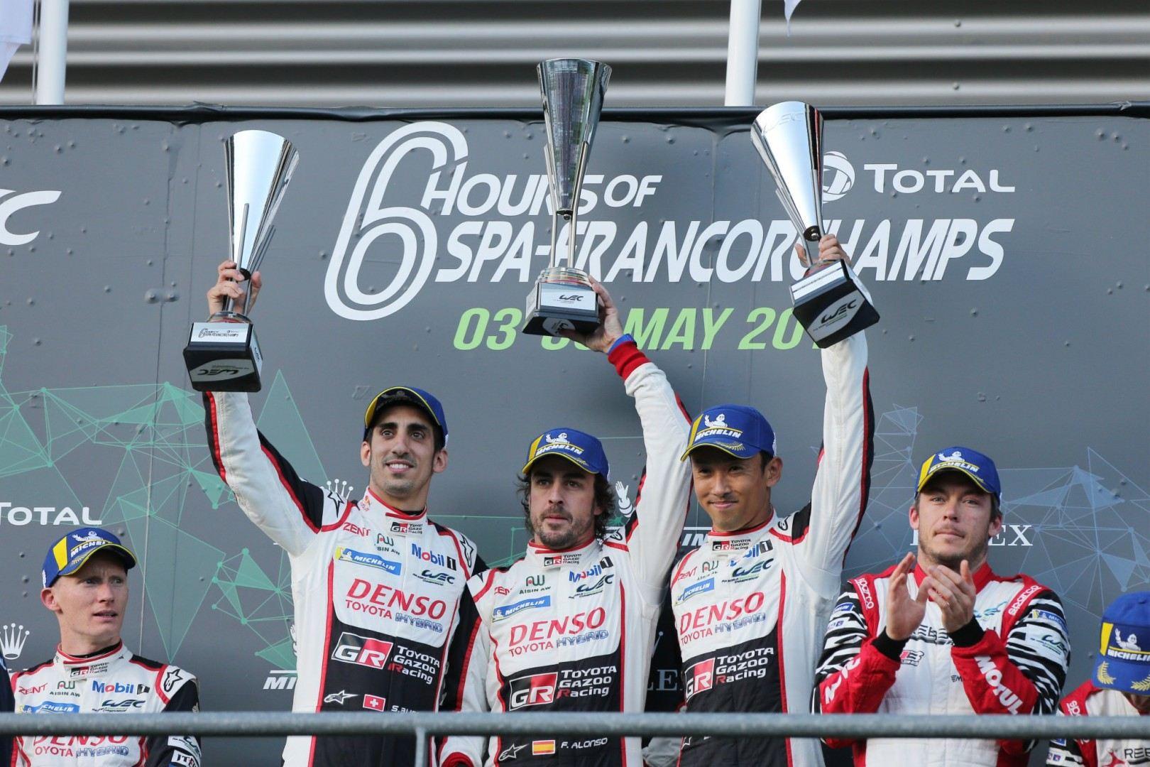 Buemi, Nakajima y Alonso vencen en las 6 horas de Spa