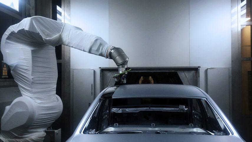 Audi ensaya con un nuevo proceso de pintado
