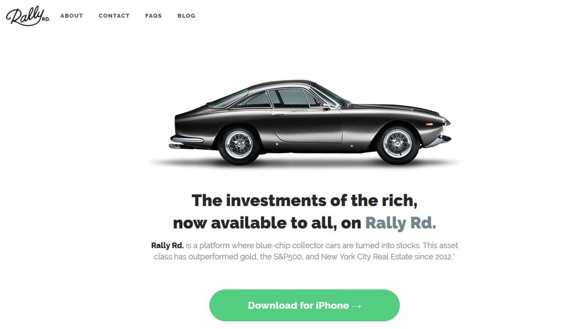 Rally RD., la app para invertir en coches clásicos