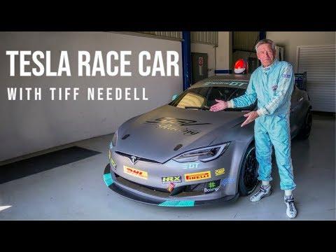Tiff Needell prueba el Tesla de carreras