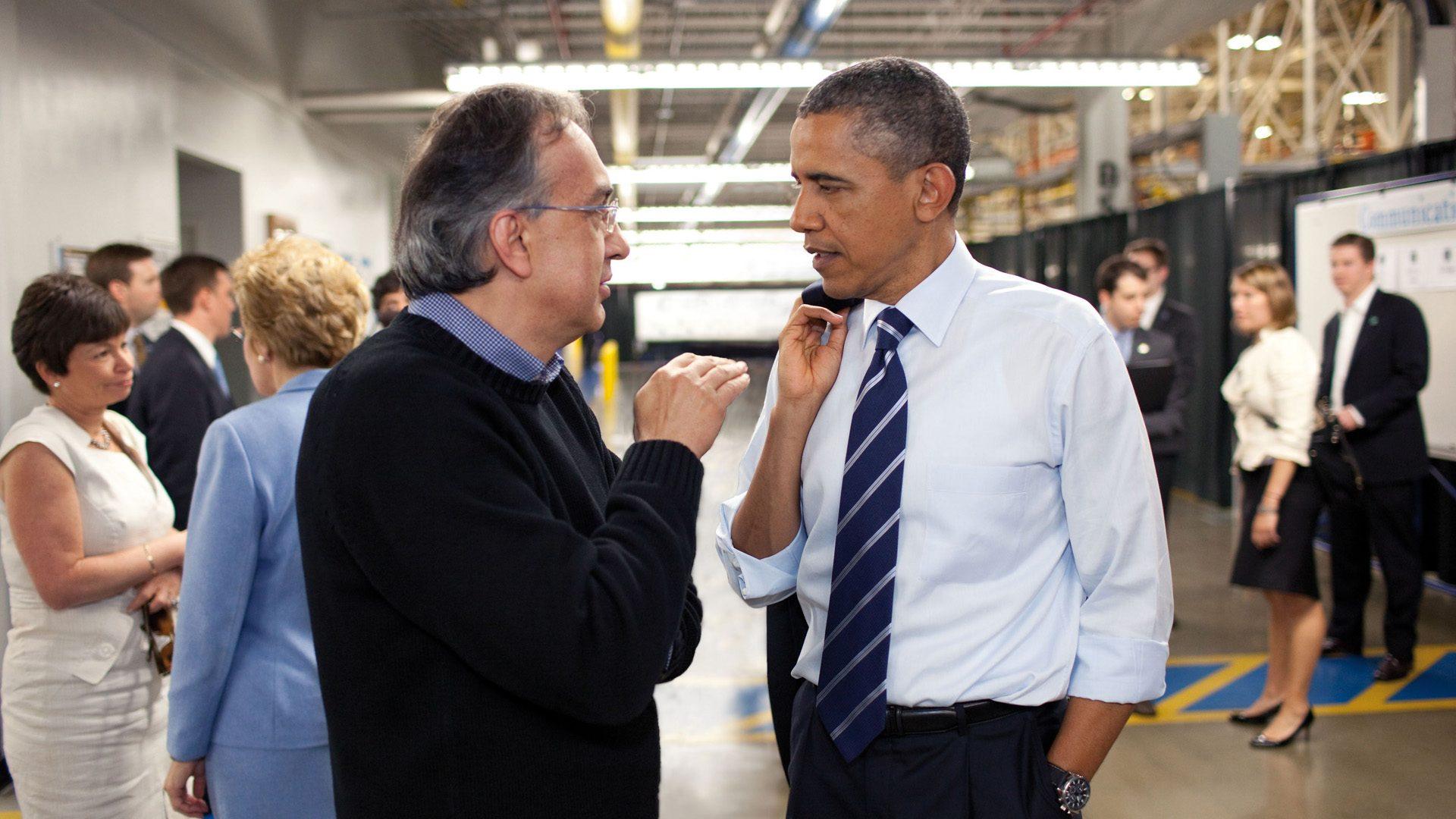 Sergio Marchionne Y Barack Obama