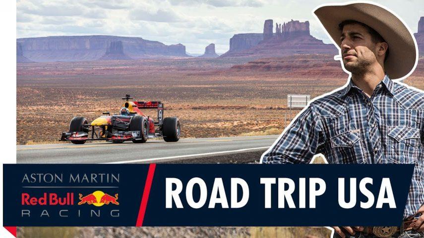 Daniel Ricciardo se va de viaje por Estados Unidos con el Red Bull RB7