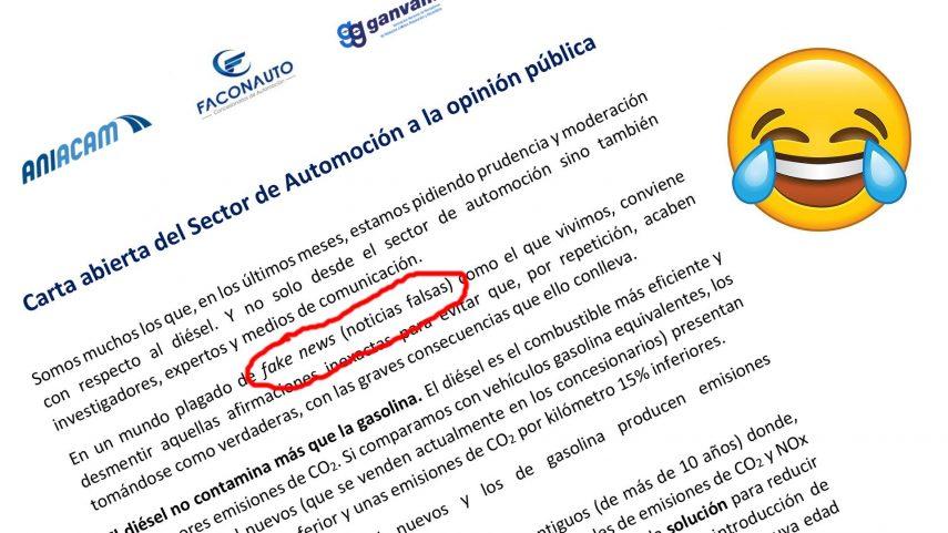 Cuestionando la Carta abierta del Sector de Automoción