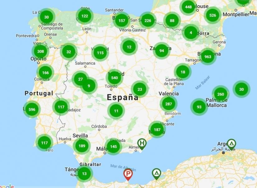 Puntos De Recarga En España