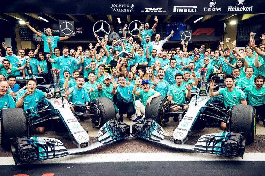 GP de Brasil: Mercedes, campeón del mundo de constructores