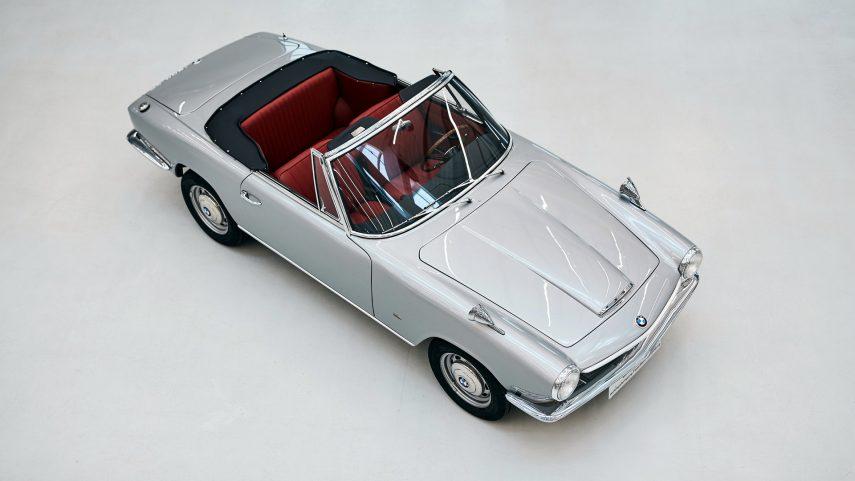 El único BMW 1600 GT descapotable recupera su esplendor