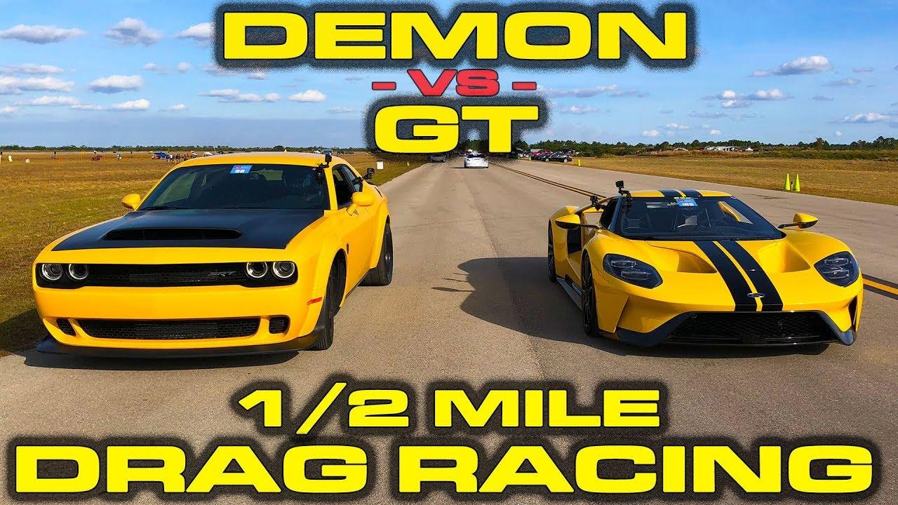 Duelo de titanes: Dodge Challenger SRT Demon vs Ford GT
