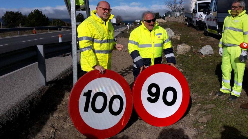 Hoy entra en vigor la bajada de 100 a 90 km/h en carreteras convencionales