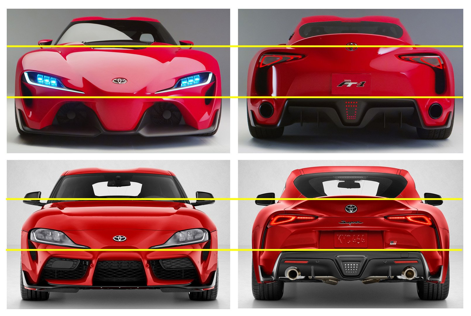 Toyota FT 1 Vs Supra Frontal Trasera