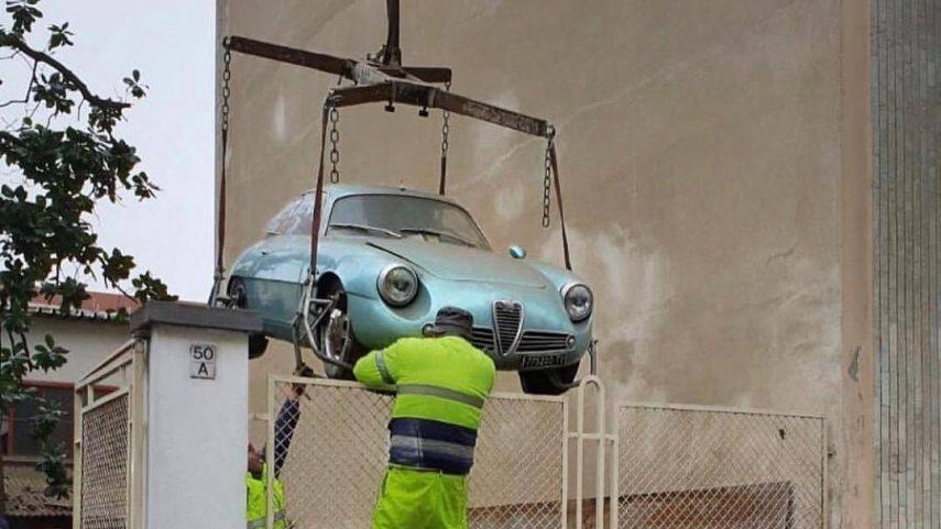 Este Alfa Romeo Giulietta SZ de 1962 ha sido levantado de su tumba