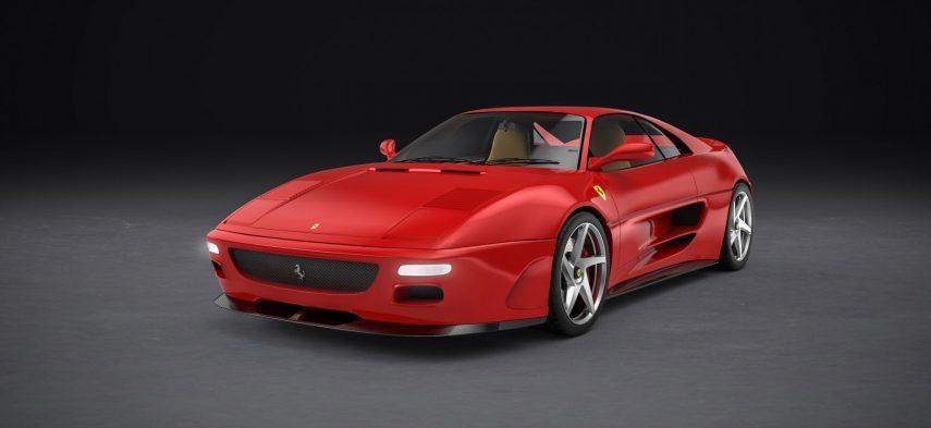 Este es el Ferrari 348 by Evoluto, con carrocería de fibra de carbono