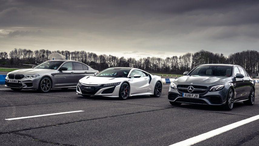 Honda NSX contra Mercedes-AMG E63 S y BMW M5 Competition
