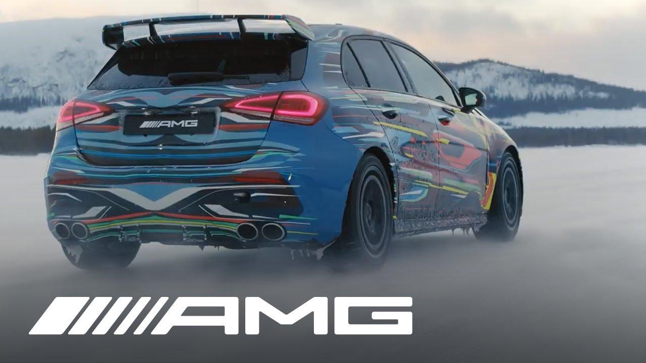Echa un vistazo al nuevo Mercedes-AMG A45 bailando sobre la nieve