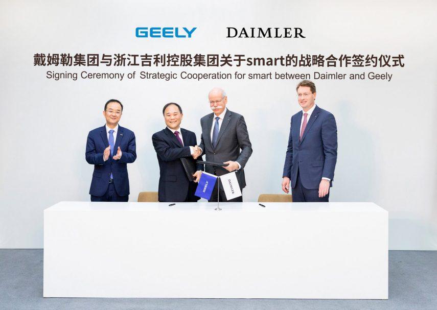 Daimler vende la mitad de smart a Geely y forma una nueva alianza