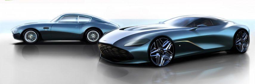 El Aston Martin DBS GT Zagato se vislumbra en los primeros bocetos