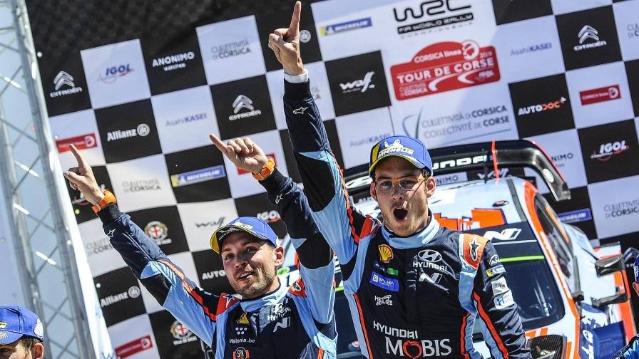 WRC: Neuville-Gisoul y su Hyundai i20 vencen en el Rally de Córcega