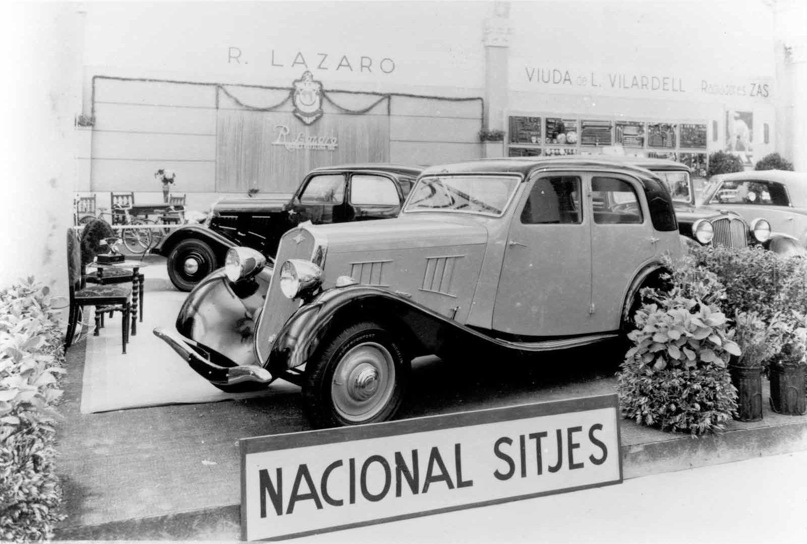11 1935 Salon Automovil Barcelona Estand Nacional Sitjes