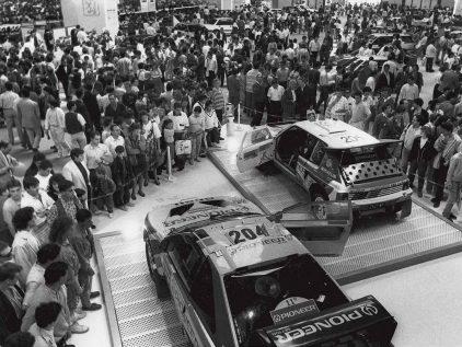 Modelos de competición Peugeot para el París-Dakar (1989)