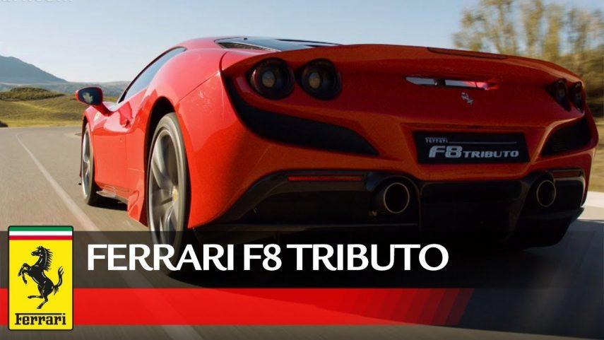 Disfruta del sonido y los derrapajes del Ferrari F8 Tributo