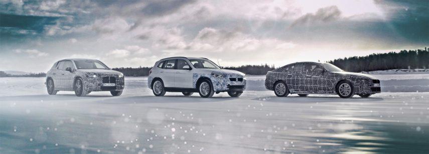 La nueva generación electrificada de BMW se pone a punto en el hielo