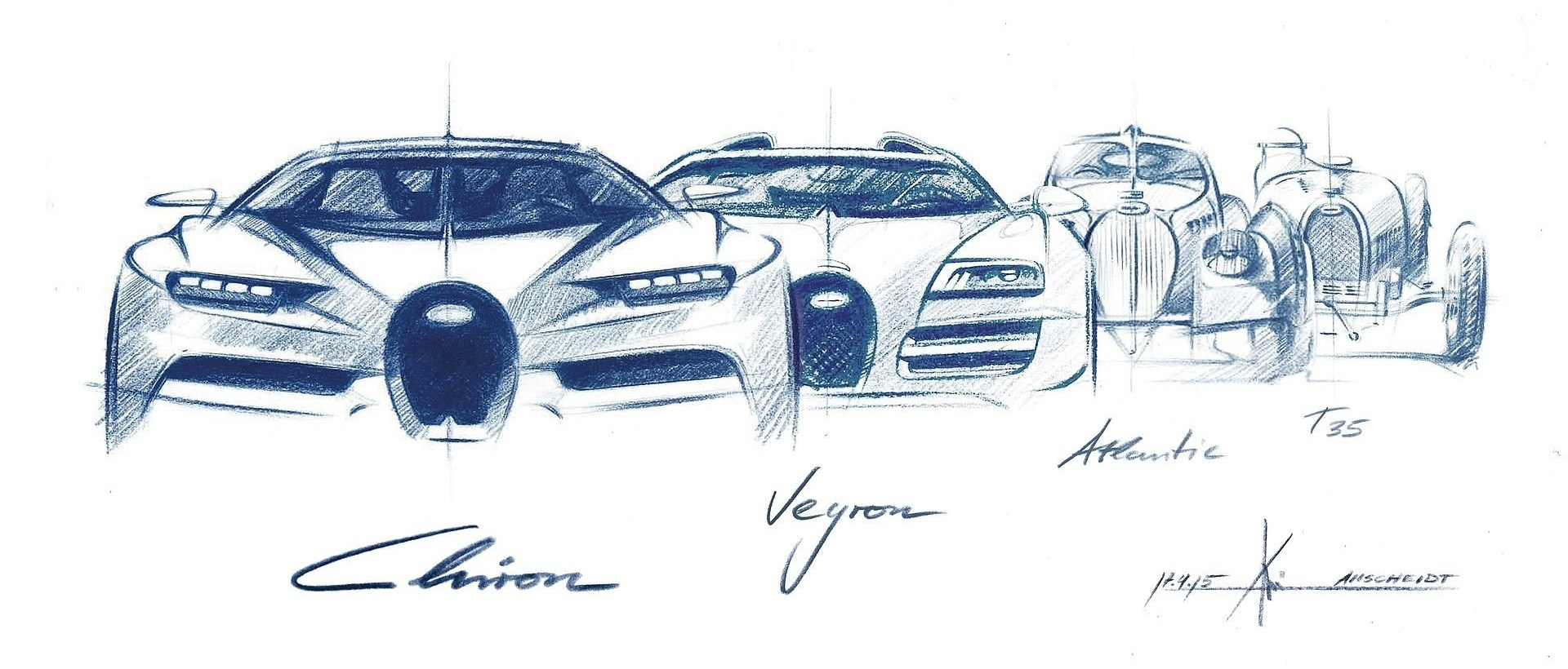 El origen de la parrilla de Bugatti